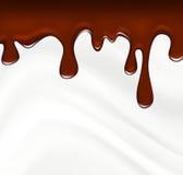 Melting chocolate on white background vector Stock Photo