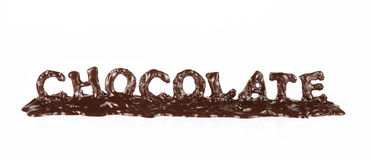 Melting chocolate word. Royalty Free Stock Photo