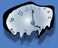 Melting Clock. A melting clock symbolising the abstract concept of time Vector Illustration