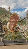 The Melting Clock statue Andorra Royalty Free Stock Image