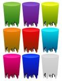 Melting colors on white Stock Image