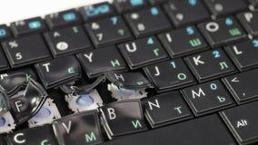 Melting computer keyboard