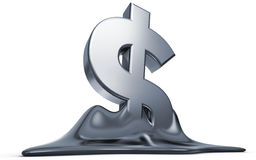 Melting dollar Royalty Free Stock Images