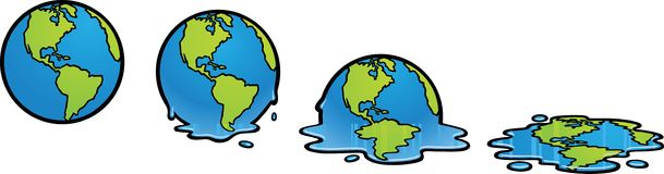 Melting Earth Stock Image