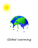 Melting earth vector Stock Image