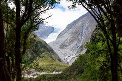 Melting Fox Glacier in New Zealand stock photos