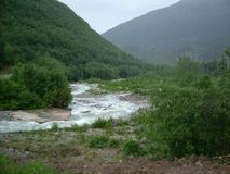 Melting Glacial Stream  Stock Image
