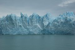 Melting glacier. Picture of a melting glacier in the south part of Argentina. The glacier is called Perito Moreno royalty free stock images