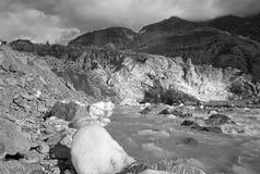 Melting glacier. In New Zealand Stock Image