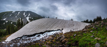 Melting Glacier Snow near lake Isabelle Royalty Free Stock Photography