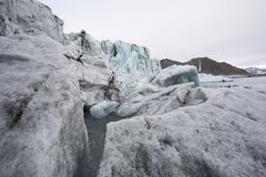 Melting glaciers - global warming Royalty Free Stock Photography