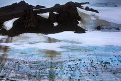glacial till, climate change, climatic variations, melting ice Royalty Free Stock Photo