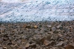 glacial till, climate change, climatic variations, melting ice Royalty Free Stock Photography