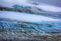 glacial till, climate change, climatic variations, melting ice Stock Photos