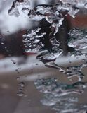 Melting on the glass Royalty Free Stock Photo