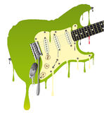 Melting Guitar Royalty Free Stock Photography