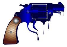 Melting Gun Stock Photo