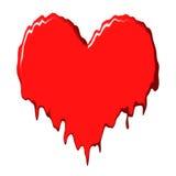 Melting heart stock illustration