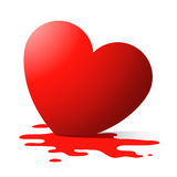 Melting heart. Melting/bleeding heart in puddle royalty free illustration
