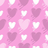 Melting hearts seamless pattern Stock Photography