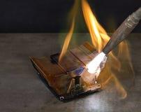 Melting heat sink Royalty Free Stock Photography