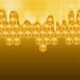 Melting honey Stock Photos