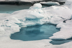 Melting ice in the Arctic. Global warming has led to the melting of Arctic perennial ice Royalty Free Stock Image