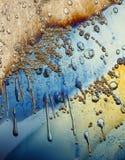 Melting ice background. A background of melting ice under polarized light Stock Photography