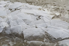 Melting ice in Baltic sea Royalty Free Stock Photos