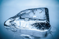 Melting ice block Royalty Free Stock Image