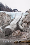 Melting ice cap. At Argentinian Perito Moreno Stock Photos