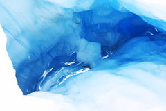 Melting ice cave at Fox Glacier, New Zealand Royalty Free Stock Photo