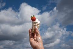 Melting ice cream. Royalty Free Stock Photos