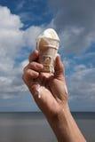 Melting ice cream. Royalty Free Stock Image