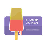 Melting Ice Cream Summer Dessert Banner With Copy Space Stock Photos
