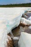 Melting ice on the creek Murgudu Stock Images