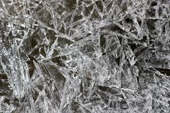 Melting ice crystals in spring royalty free stock photos
