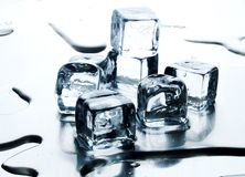 Melting ice cube Stock Photos