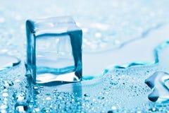 Melting ice cube Stock Images