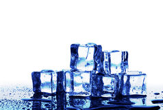 Melting ice cubes. Over the white Royalty Free Stock Image