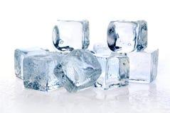Melting ice cubes royalty free stock photos