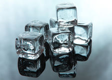 Melting ice cubes Stock Photo