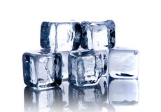 Melting ice cubes royalty free stock image