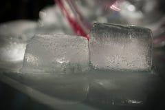 Melting Ice Cubes Close Up stock photo