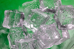 Melting ice cubes closeup  on Royalty Free Stock Photo