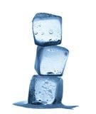 Melting ice cubes isolated on white background Stock Photo