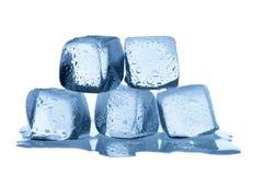 Melting ice cubes isolated on white background Royalty Free Stock Photo
