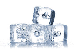 Melting ice cubes with water dew Stock Photo