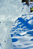 The melting of the ice figure. Royalty Free Stock Image