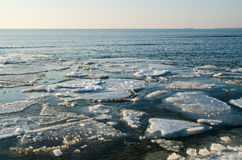 Melting ice floe at the sea Stock Photography